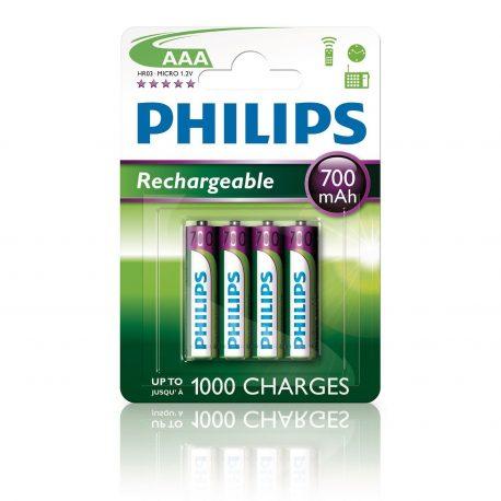 Phillips Battery 2xaaa 700mAh